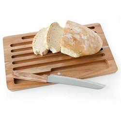 Tagliere pane in acacia con coltello -  Brandani art 54010