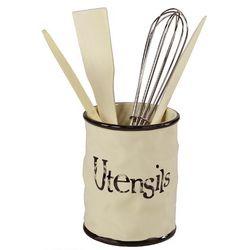 Porta utensili con accessori in ceramica di Lorenzon art LI-0522