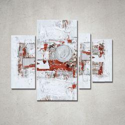 Quadro astratto 150x120cm Agave - Block 5 artAG040063
