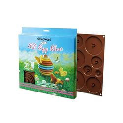 Stampo in silicone 3D Egg Choc di Silikomart art C3D02