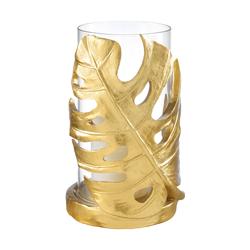 portacandela foglia color oro - emmanueleregali