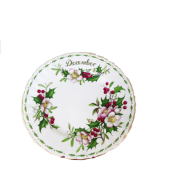 Piatto per dolce Flowers of the month Dicembre - Royal Albert art 6804