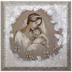 quadro_tela_capezzale_maternità_madonnaconbimbo_salvadoricornici_emmanueleregali_bombonieraperfetta