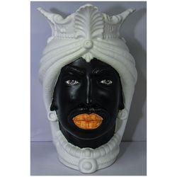 """Teste di moro africano opaco in ceramica siciliana  """"IL MORO """" o  """"LA FANCIULLA """"-emmanueleregali-bombonieraperfetta"""