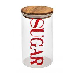 Barattolo sugar vetro con tappo ermetico in acacia - Brandani-emmanueleregali-bombonieraperfetta