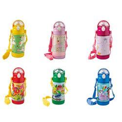 Bottiglia termica baby inox 350 ml con cannuccia silicone decori assortiti - Brandani-emmanueleregali-bombonieraperfetta