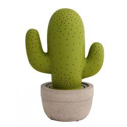 Lampada cactus verdesabbia in porcellana - Brandani-emmanueleregali-bombonieraperfetta