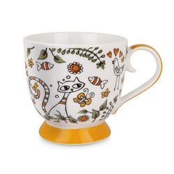 PTE12-1A-Tazza Tea For Two Arancio ml 410 - Egan-emmanueleregali-bombonieraperfetta