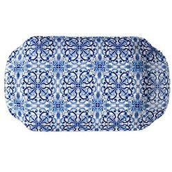 Vassoio collezione Maiolica in new bone china - Brandani-emmanueleregali-bombonieraperfetta