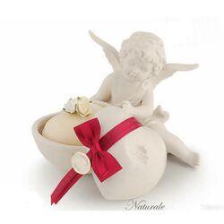 23793_Angelo in porcellana bianca con contenitore cuore cm. 15_Hervit_emmanueleregali_bombonieraperfetta
