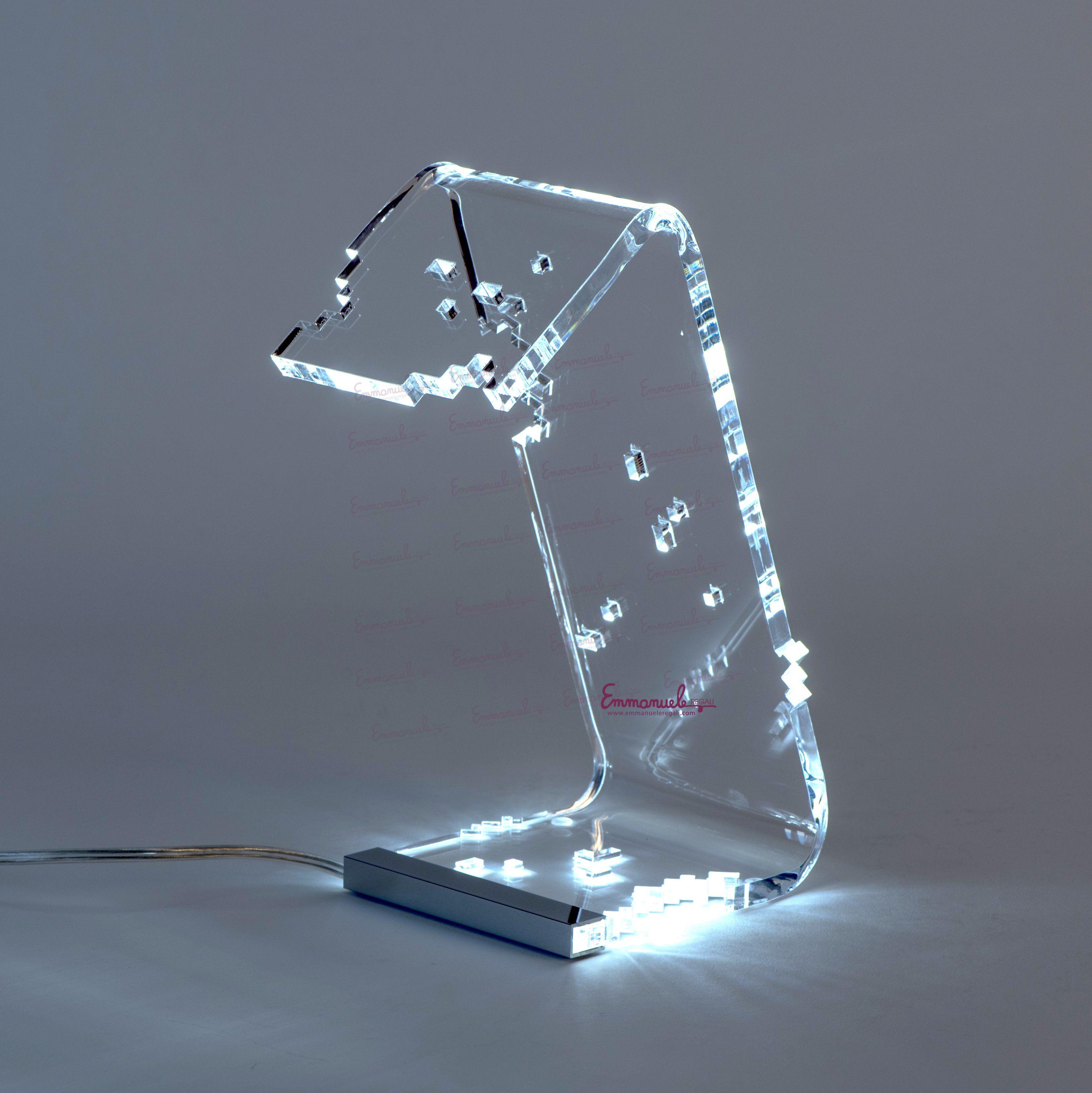 Lampada Da Tavolo In Plexi Pixel Vesta