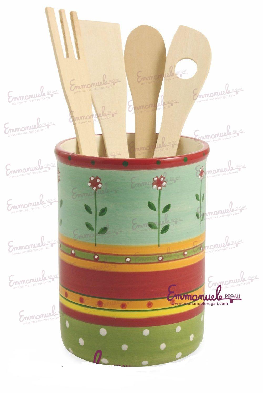 """Porta utensili """"Menton"""" in ceramica di Villa d'Este art 2410254"""