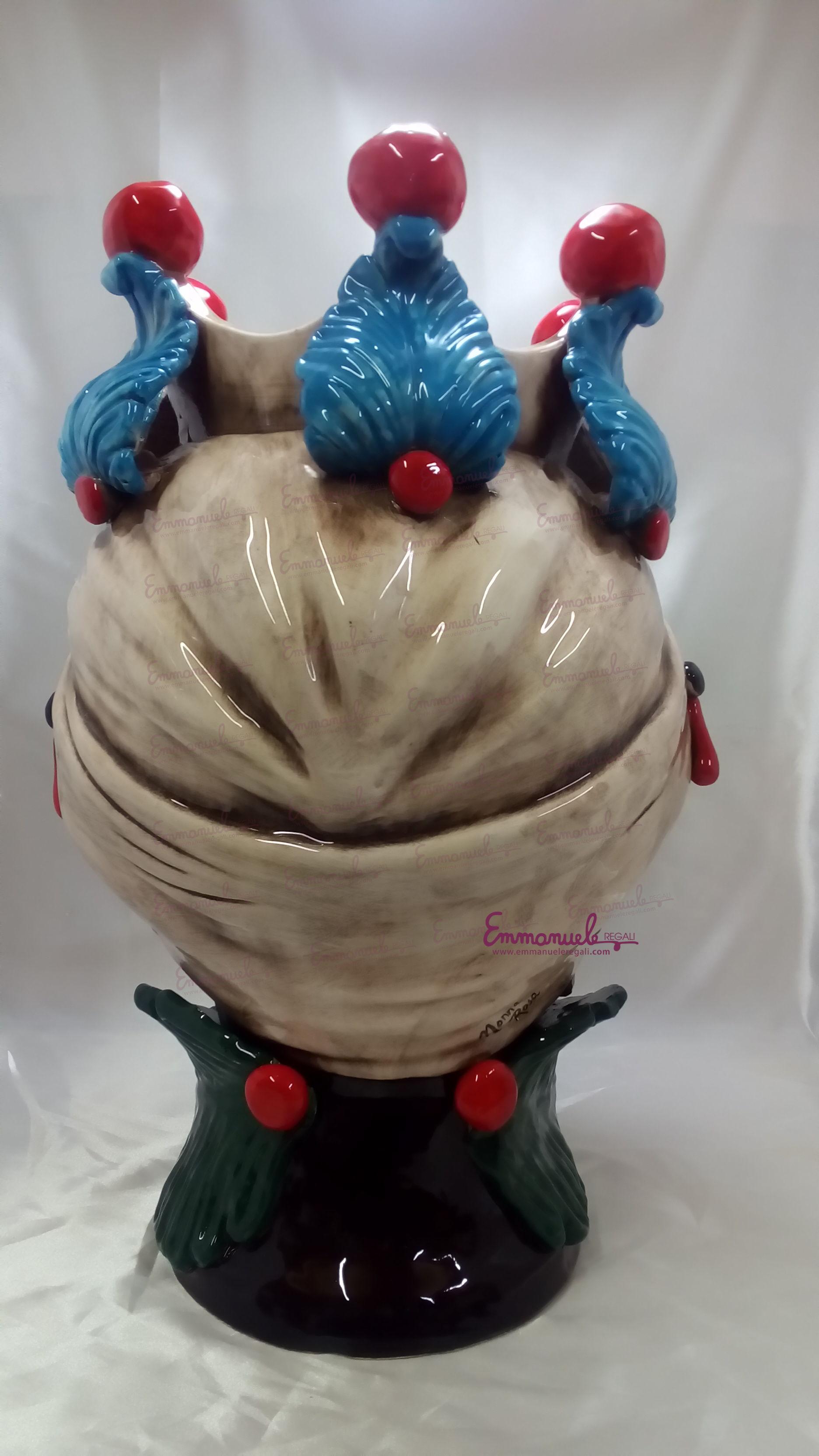 """Teste di moro in ceramica siciliana """"IL MORO """" e """"LA FANCIULLA """" artTESTE MORO 43 di le ceramiche di nonna rosa"""