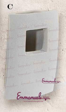 Vasi umidificatori da parete - Linea sette- VM772B - cm 28x8x28