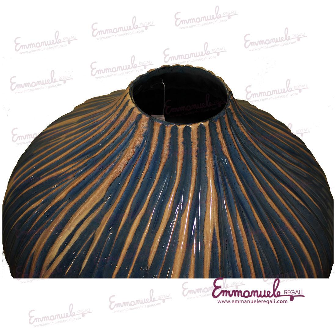 Vaso in ceramica Anna Orion Blu - Onlylux-emmanueleregali-bombonieraperfetta